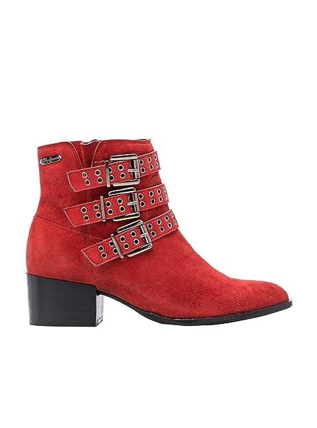 Botines Pepe Jeans Waterloo Rojo 37 Rojo: Amazon.es: Zapatos y complementos
