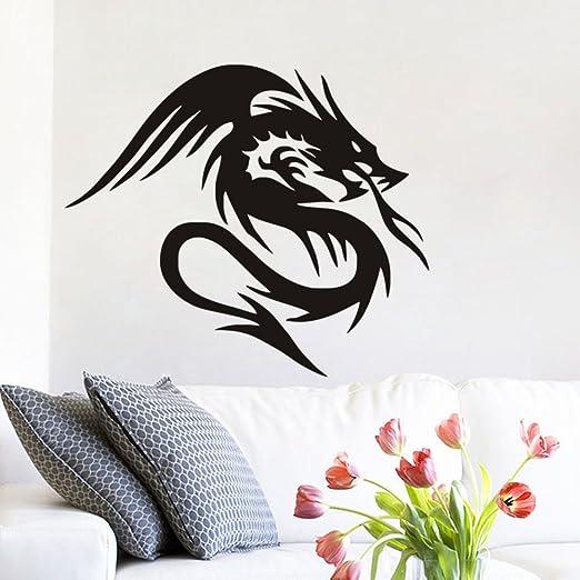 GUUTOP Dragón Chino Mural Tatuajes de Pared en Legend Etiqueta de ...