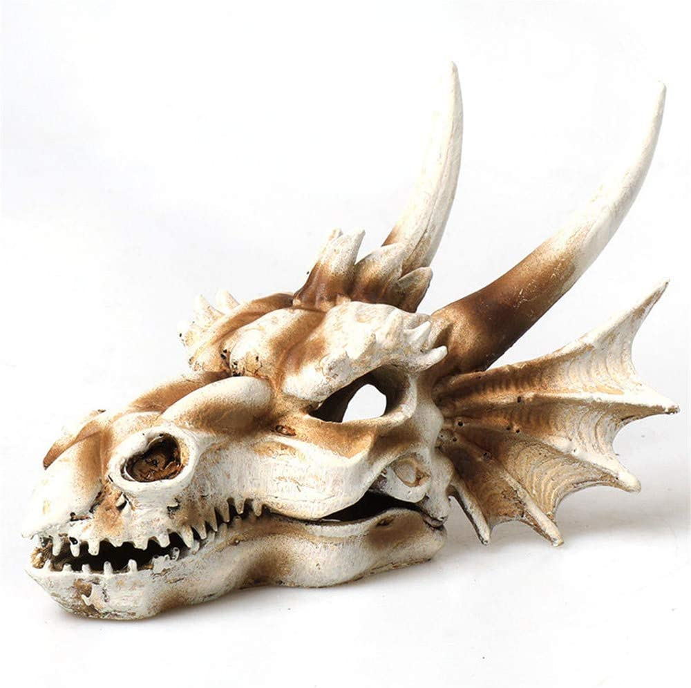 Decoration Aquarium Dinosaur Imitation Skull Model Decor Reptiles Hideout Shelter