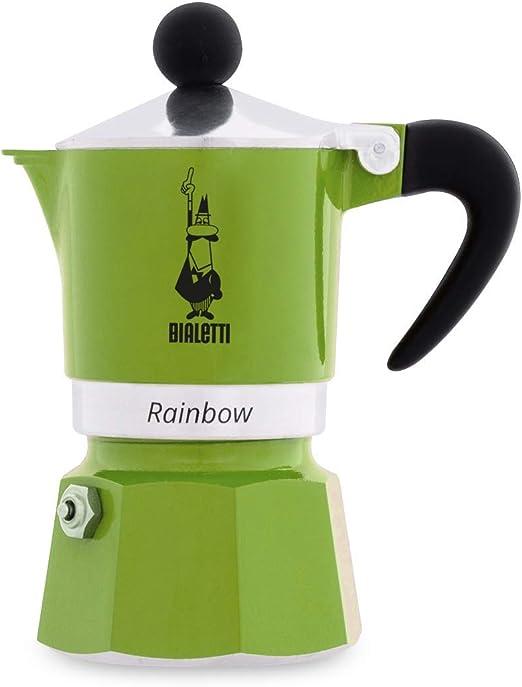 Bialetti Rainbow Cafetera Italiana Espresso, 1Taza, Aluminio ...