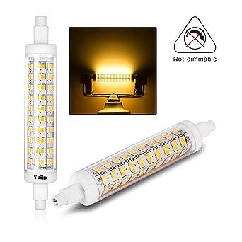 Bombilla LED R7s 118mm - Yuiip, 10 W Equivalente a 110 W, Blanco Cálido