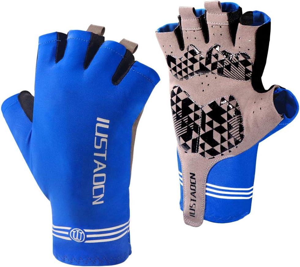 IUSTAOCN Fishing Fingerless Gloves Men Women UV Protection Sun Gloves UPF50+ Outdoor Sports Gloves for for Kayaking, Hiking, Paddling, Driving, Canoeing, Rowing