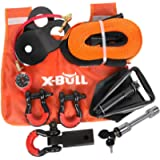 X-BULL Winch Accessory Kit Recovery Kit :Recovery Tow Strap + D-Ring Shackles+ 8-Ton Snatch Block +Shackle Hitch…