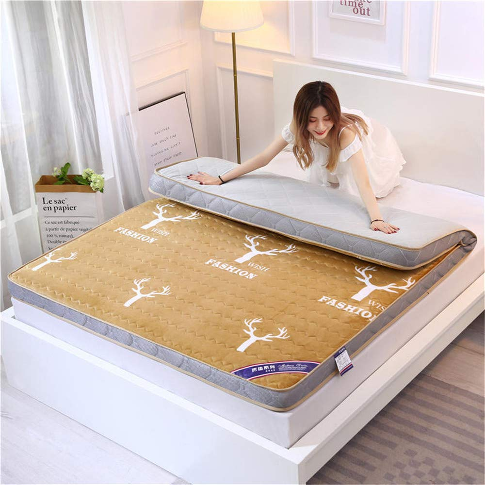 GFYL Tatami Mattress,Milk Velvet Traditional Japanese Floor Futon,No-Slip Ultra Soft Futon Sleeping Pad Star Hotel Foldable Tatami Thicker Version,C(6cm),120200cm(4779inch) by GFYL