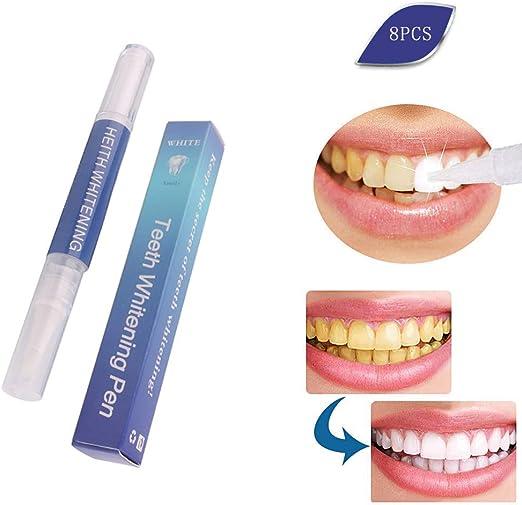 WFWPY Kit de Blanqueamiento Dental Set de blanqueamiento Dental Jeringas de Gel de 3 ml Resultado rápido y sin sensibilidad para una Sonrisa Radiante fácil de Usar 8 PCS: Amazon.es: Hogar