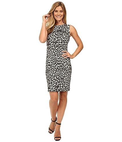 Michael Kors Women's Leopard Print Sleeveless Sheath Dress