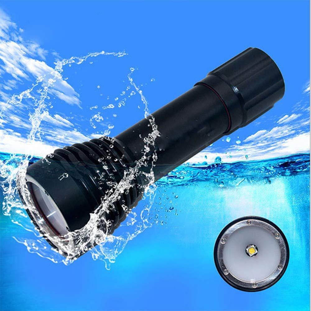 WANGYONGQI Wasserdichte Taschenlampe, professionelles Tauchen Taschenlampe, Unterwasserfotografie, Fotoshooting, Wasserdichte Beleuchtungsgeräte
