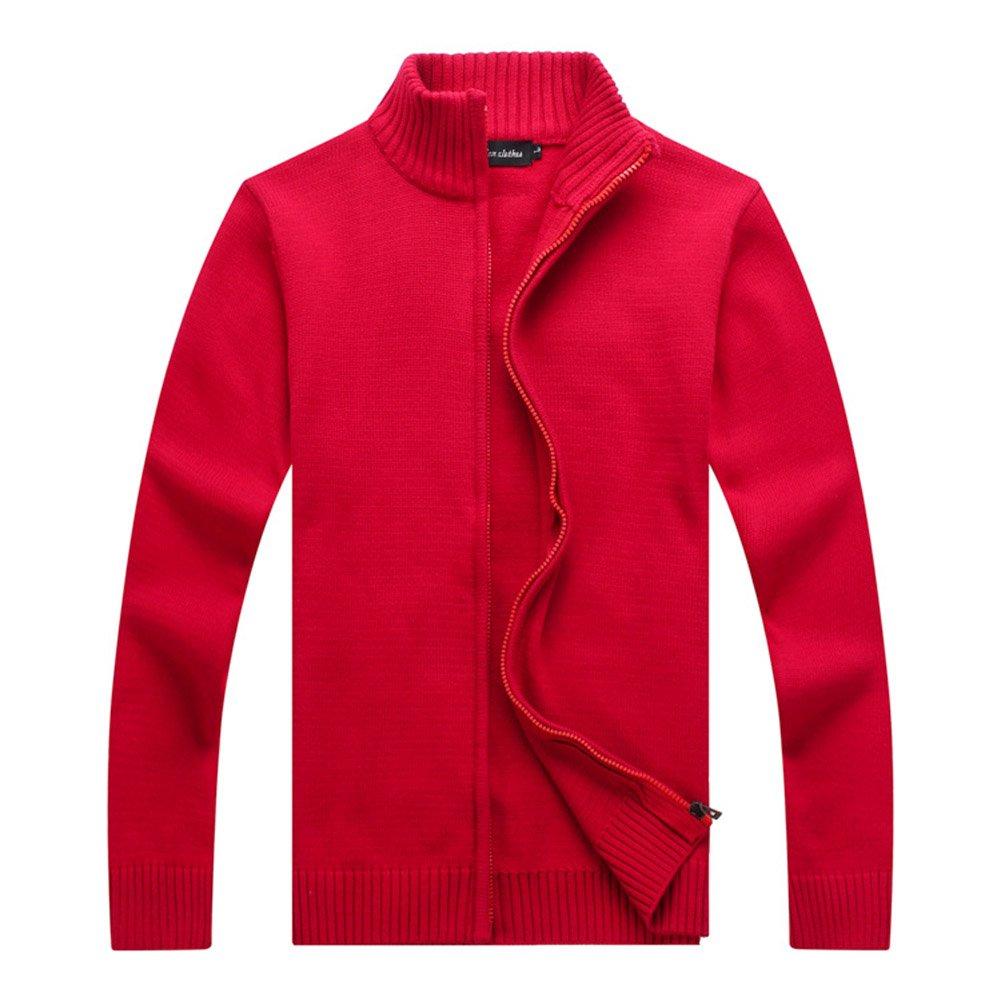 Aecibzo Men's Full Zip Knitted Cardigan Sweater