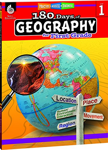 180 Days of Geography for First Grade - Fun Daily Practice to Build 1st Grade Geography Skills - Geography Workbook for Kids Ages 5 to 7 -
