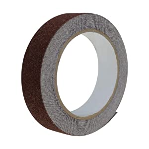 EONBON Anti Slip Tape Brown, 1 Inch x 16.4 Feet Anti-Slip Traction Tape Roll, Weatherproof Safety Non Skid Self Adhesive Grip Tape for Stairs, Tread Step, Indoor & Outdoor Use