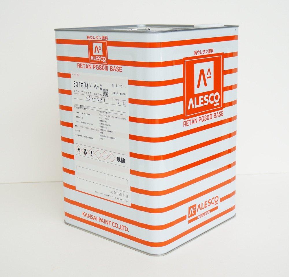 関西ペイントPG80#531 ホワイト 白 16kg/自動車用ウレタン塗料 2液 カンペ B074C74JNX