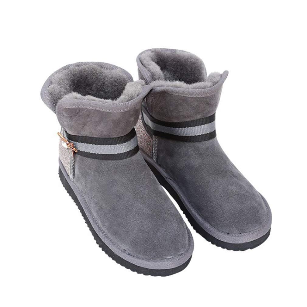 YAN Frauen Stiefel Wildleder Winter Martin Stiefel Winter Plüsch warme Stiefeletten Mode Plattform Kampf High-Top Freizeitschuhe schwarz braun