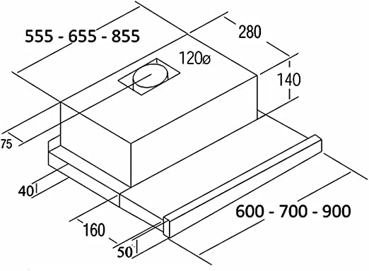 Cata - Campana de extracción telescópica,Modelo: TF 6600 DURALUM, 2 niveles de extracción, Panel de Control Mecánico,Acabado en inox,Clase de eficiencia energética: C: 136.27: Amazon.es: Grandes electrodomésticos