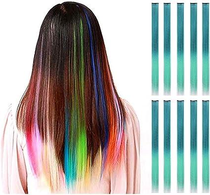 Extensiones de pelo de colores para niños Foonee 10 piezas de ...