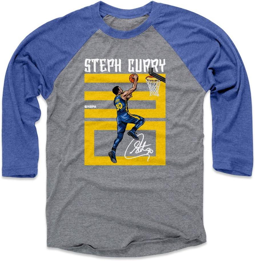 Playera de 500 Niveles de Curry Steph, Camiseta de Baloncesto Golden State Raglan, número de Curry Steph, Atlético, XL, Royal/Heather Gray: Amazon.es: Deportes y aire libre