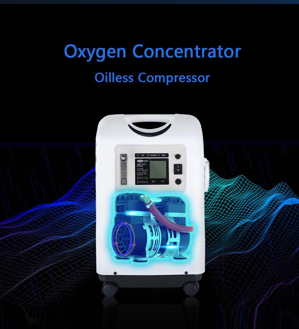 ... Concentrador de oxígeno Máquina de generador de oxígeno portátil Inicio Atomización Salida Purificador de Aire 1-3L / Min Ajustable: Amazon.es: Hogar