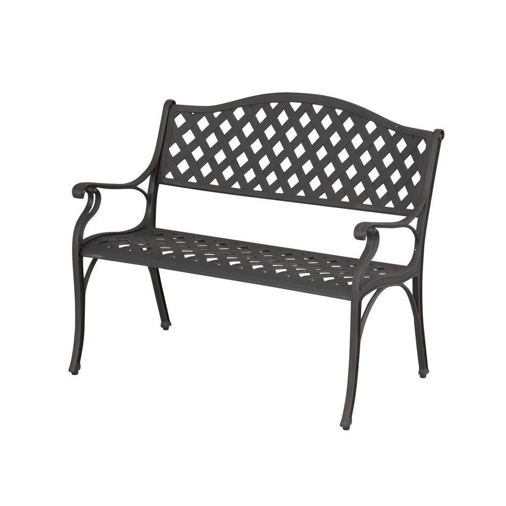 Excellent Amazon Com Hampton Bay Legacy Aluminum Patio Bench Kitchen Creativecarmelina Interior Chair Design Creativecarmelinacom