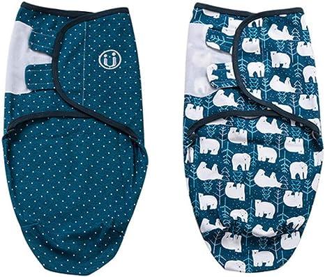 Manta Envolvente para Bebé y Recien Nacido – 2x Saco de Dormir Manta de Arrullo Cobija 100% Algodón - Para Bebes Recien Nacidos (0-2 meses, Azul): Amazon.es: Bebé