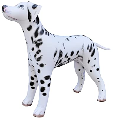 "Jet Creations Inflatable Dalmatian Dog 39"" Long Stuffed Animals Party Supplies An-DALM: Toys & Games"