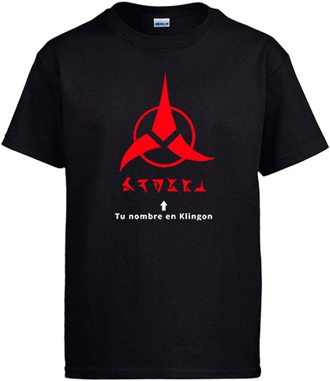Diver Camisetas Camiseta Personalizable con tu Nombre en Klingon: Amazon.es: Ropa y accesorios