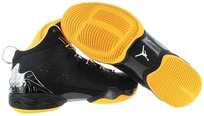 official photos 2728a d0295 Amazon.com   Nike Mens Air Jordan Melo M10 Basketball Shoes Black Atomic  Mango 629876-013 Size 11.5   Basketball