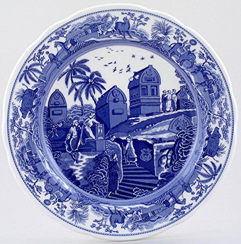 Blue Room Collection Dinner Plate (Spode Blue Room Archive Collection Tradition Series Caramanian Dinner Plate)