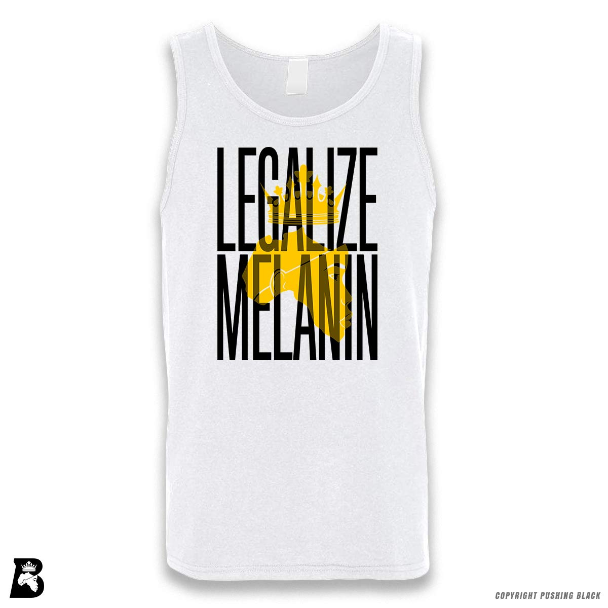 Pushing Black Legalize Melanin Sleeveless Unisex Tank Top