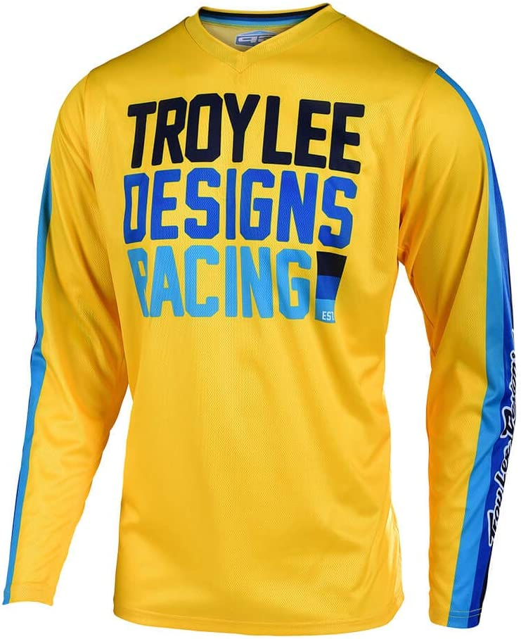 GP Jersey Premix 86 Medium, Yellow Troy Lee Designs Adult Offroad|Motocross