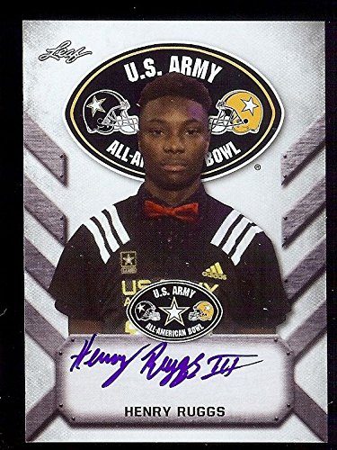 HENRY RUGGS Alabama Crimson Tide 2017 Rookie Leaf Army Certified AUTOGRAPH from Leaf
