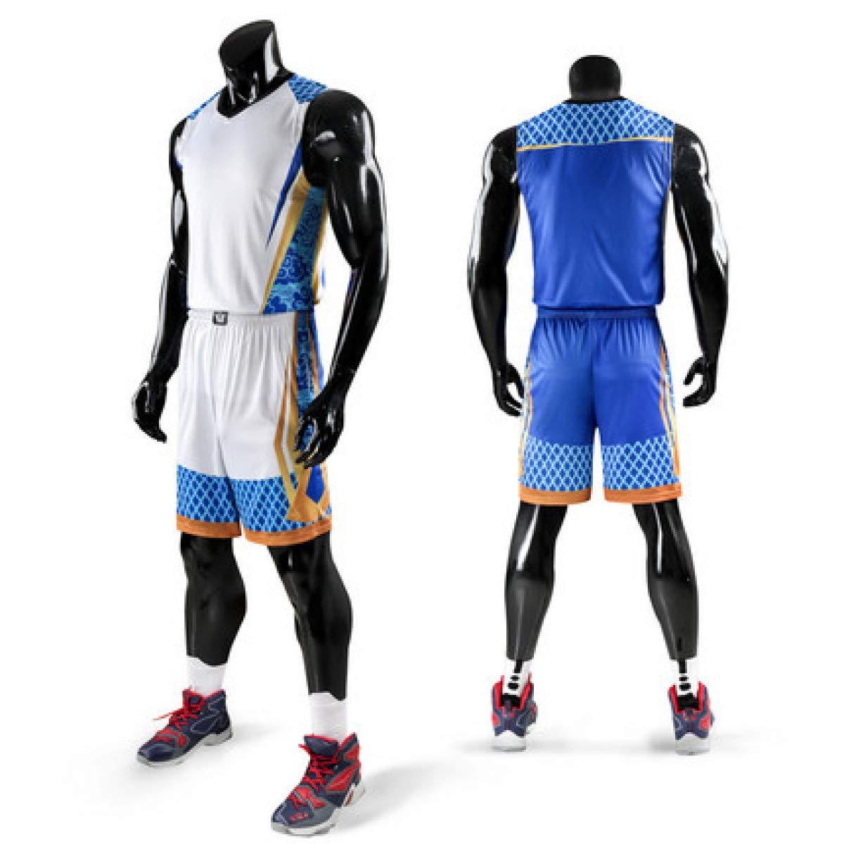 Men Throwback Basketball Training Jersey Set Tracksuits Breathable Basketball