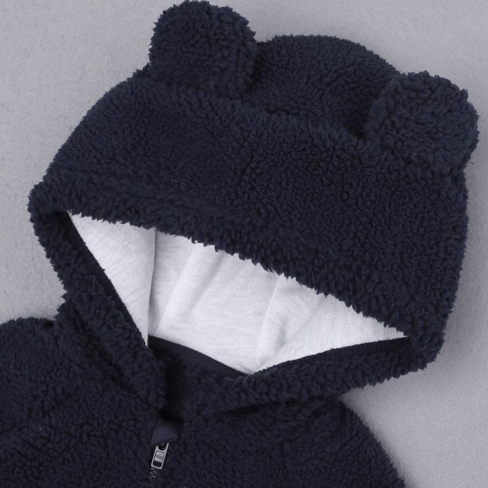 Anxinke Baby Toddlers Winter Fluffy Hooded Outerwear