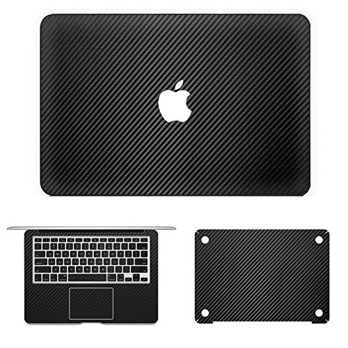 iCasso Carbon Fiber Full Sticker For Apple Macbook Pro 13 Inch Retina Model A1425/A1502 A Set Of Decal Sticker Skin For Apple Laptop (Pro Carbon Fiber)