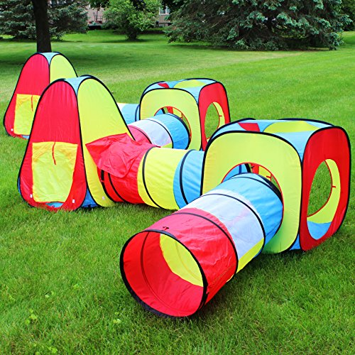 Joyin Toy 8 in 1 Pop-up Play Tent Tunnel Including 4 Kids Play Tunnels 2 Cubic Tents and 2 Triangle Tents Perfect for Ball Pit Playing - Fancy Danielu0027s ... & Joyin Toy 8 in 1 Pop-up Play Tent Tunnel Including 4 Kids Play ...