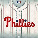 """Sports and Tailgating MLB Party Philadelphia Phillies Luncheon Napkins Tableware, Paper, 6"""" x 6"""", Pack of 36"""