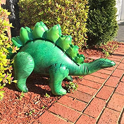 Jet Creations 4-pk Inflatable Dinosaurs Combo, T-rex Pteranodon, Stegosaurus, Raptor. Great for Pool, Party Decoration. Size Range Approx. 37 to 51 inch, Multicolor: Toys & Games