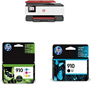 HP OfficeJet Pro 8035 All-in-One Wireless Printer - Coral (4KJ65A) with Ink Cartridges - 4 Colors