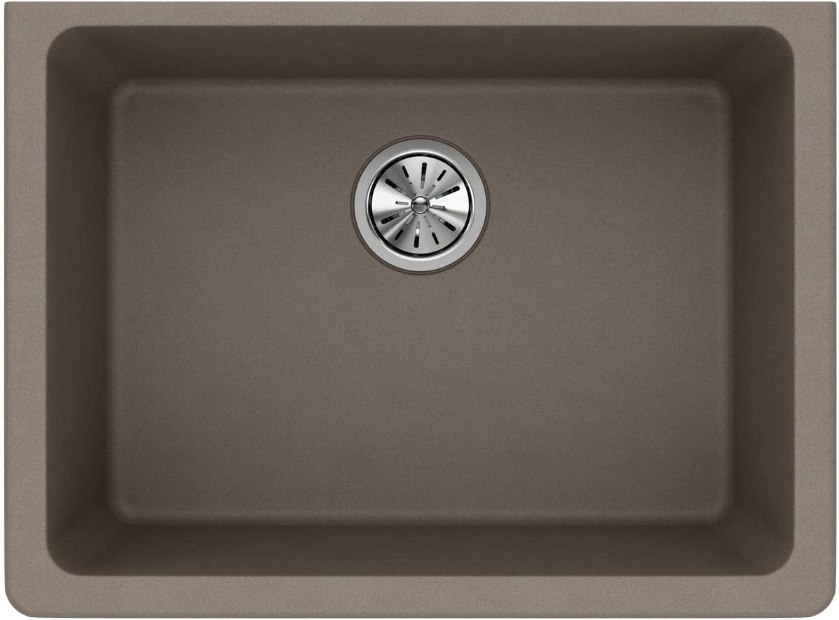 Elkay Quartz Classic ELGU2522GR0 Greige Single Bowl Undermount Sink