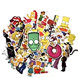 Sticker Pack 50Pcs,The Simpson Waterproof Vinyl Stickers for Water Bottles,Laptop,Kids,Cars,Motorcycle,Bicycle,Skateboard Luggage,Bumper Stickers Hippie Decals Bomb (The Simpsons)
