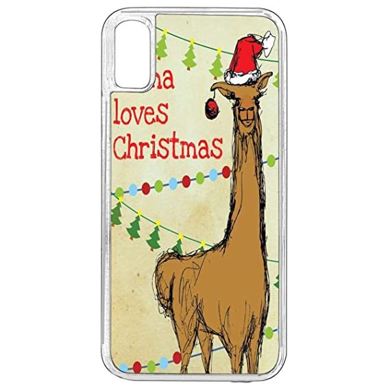 Amazon Com Iphone X Christmas Case Iphone Xs Llama Loves