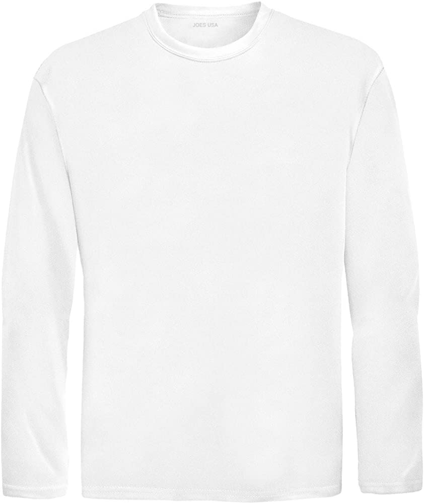 Joe's USA Youth Athletic Performance Long Sleeve Shirts for Boys or Girls – Moisture Wicking