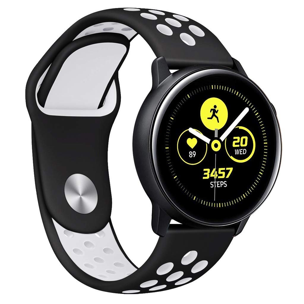 Choosebuy for Samsung Galaxy Watch Active Small Silicone Replacement Band Wrist Strap (Gray)