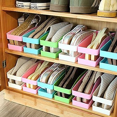 codinex (TM) multiuso organizador de zapatos zapato de plástico caja de almacenaje estilo coreano calcetines ropa interior zapatos gancho para organizar zapatos: Amazon.es: Hogar