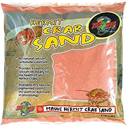 Zoo Med Laboratories SZMHC2M Hermit Crab, 2-Pound, Sand Mauve