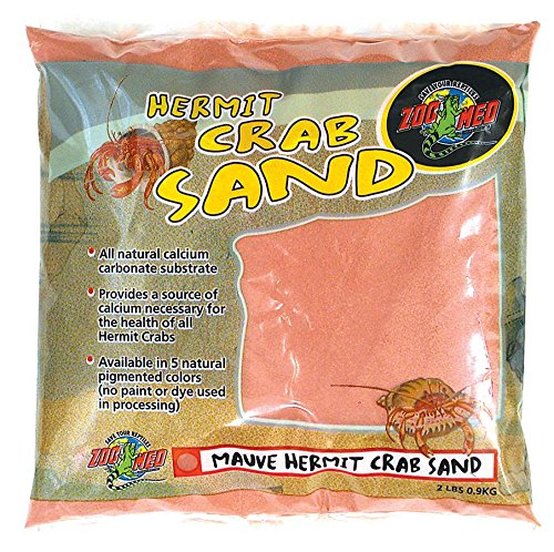 Zoo Med Laboratories SZMHC2M Hermit Crab, 2-Pound, Sand Mauve by Zoo Med