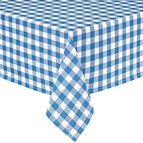 Lintex Buffalo Gingham Check Indoor/Outdoor Casual Cotton Tablecloth,