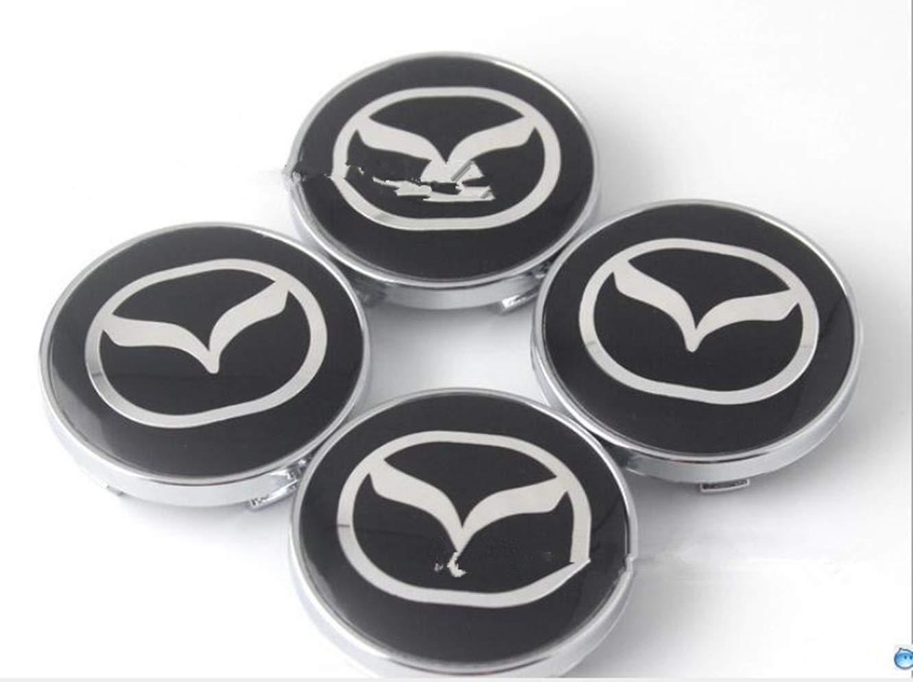 4 Pcs Set MAZDA Alloy Wheel Rims Center Centre Hub Caps 60//56 mm Aluminum New
