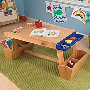 Good Kids Arts Crafts Table  Solid Wood Work Bench Station For Toddlers, Children  U0026 Creative