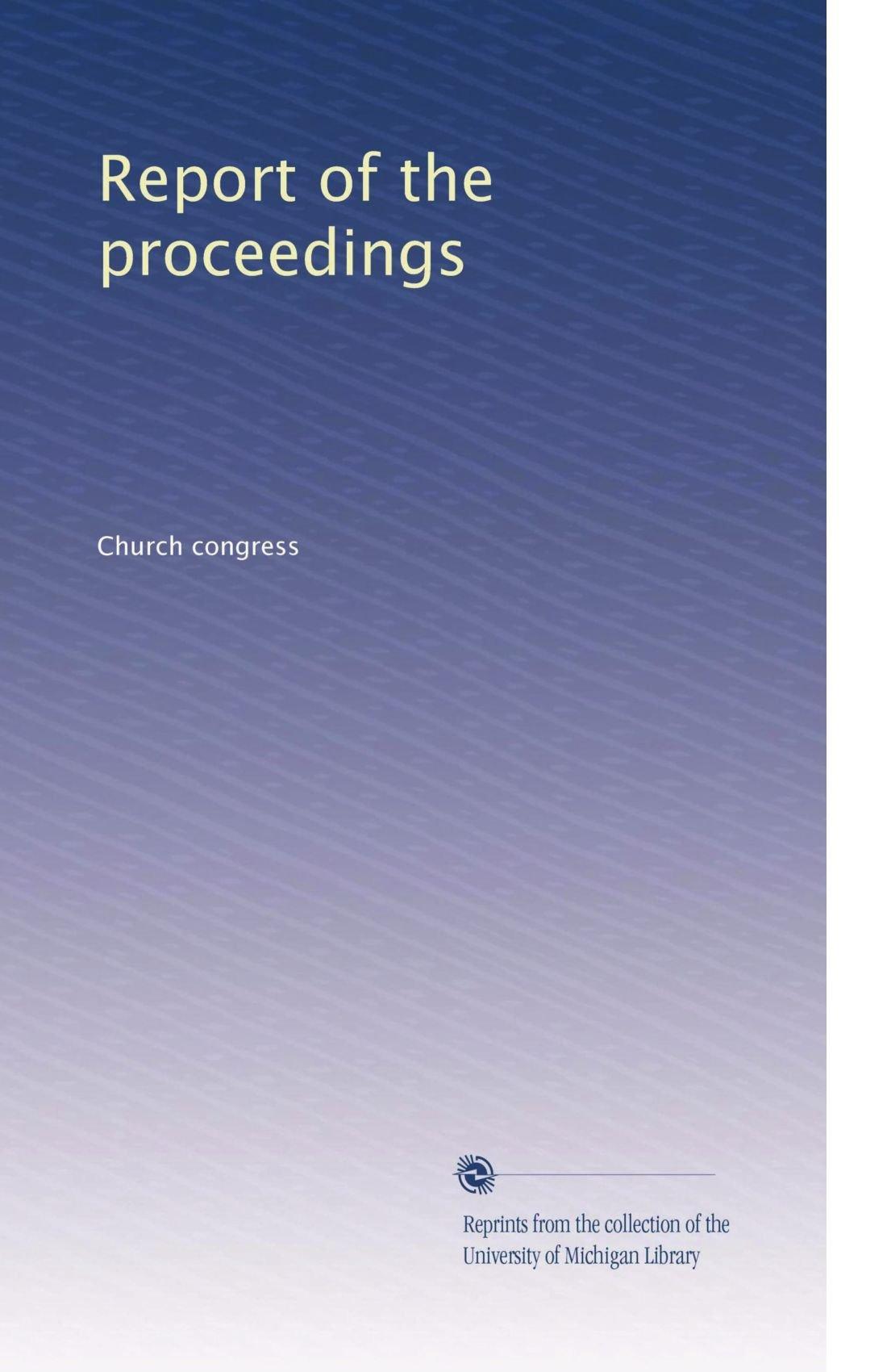 Report of the proceedings (Volume 32) PDF