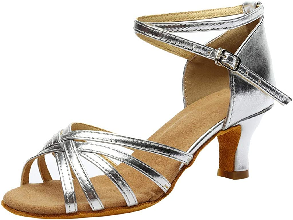 Zapatos Mujer Tacon Fiesta, LANSKIRT Sandalias de Vestir Mujeres de tacón Fiesta de Color Rumba Waltz Chanclas Salón de Baile Latino