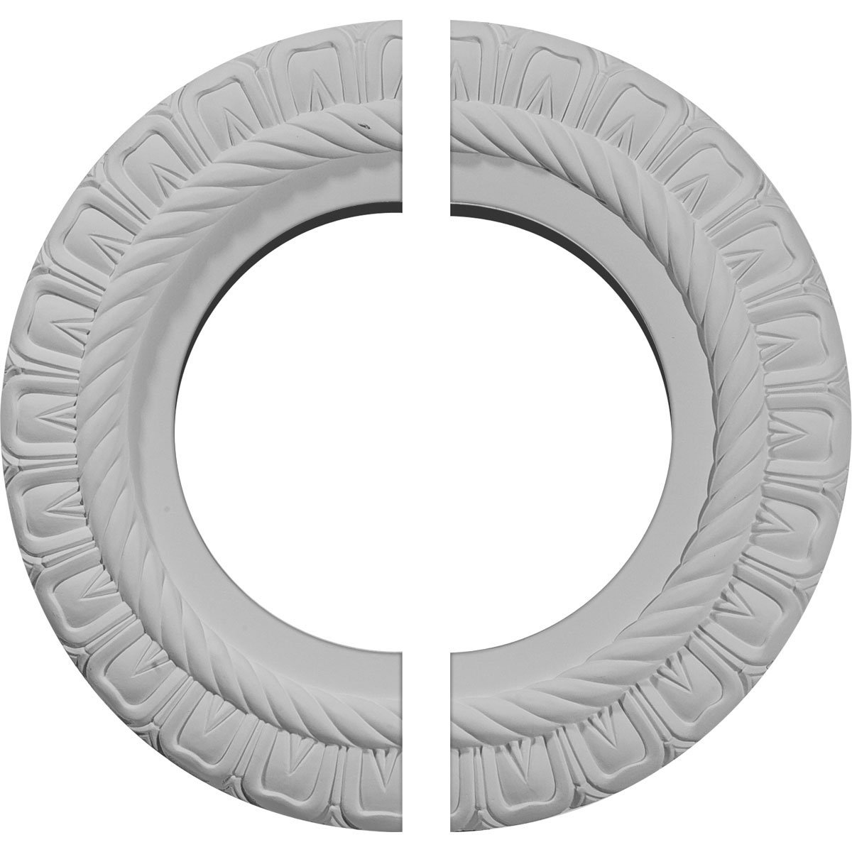 Ekena Millwork CM10CL2 10 5/8''OD x 5 3/4''ID x 1/2''P Claremont Ceiling Medallion, Fits Canopies up to 7'', 2 Piece